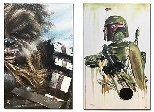 "Star Wars Chewbacca 16"" x 10.25"" и Star Wars Boba Fett 16"" x 10.25"""