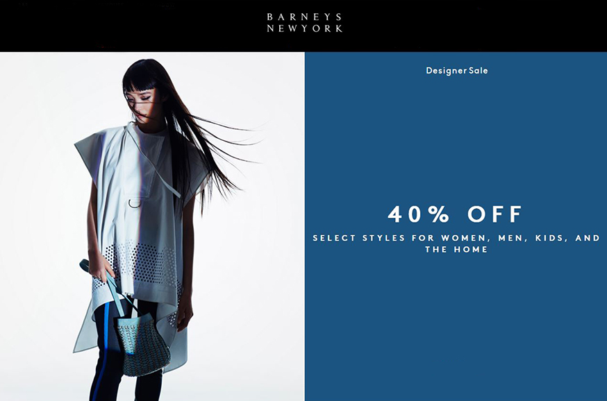 скидки в Barneys New York