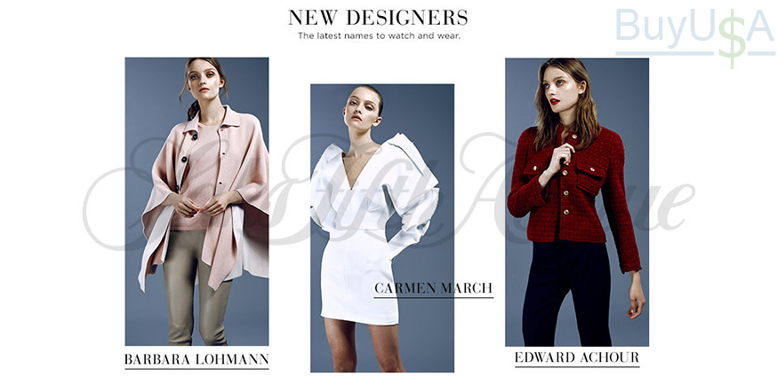 Saks Fifth Avenue - new designers